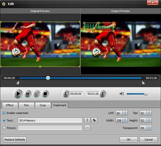 Adicionar una marca de agua a su video