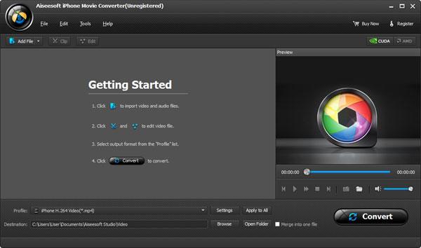 Adicionar sus videos al Aiseesoft