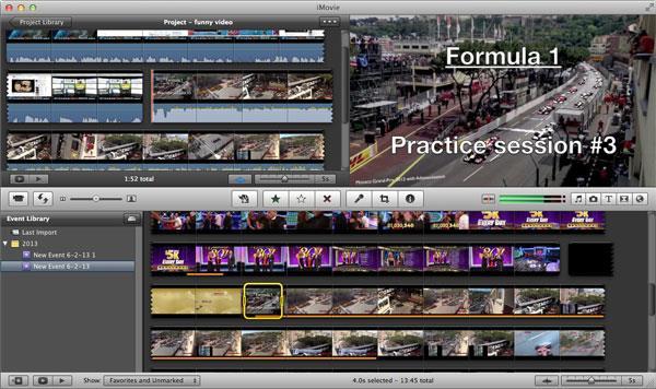 Editar su video en el iMovie después de la conversión