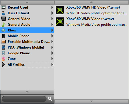 Seleccionar el formato de conversión para su dispositivo
