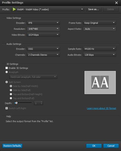 Ajustar las configuraciones de su archivo