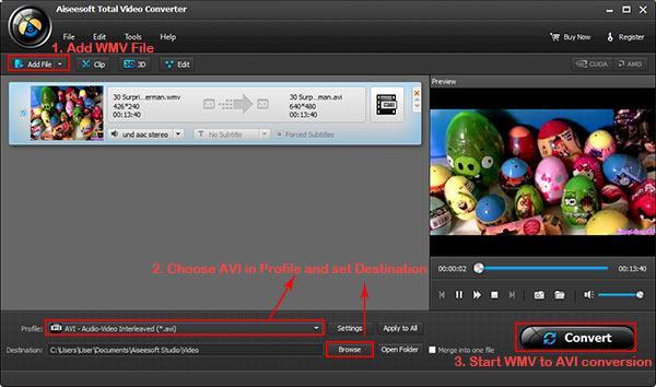 Seguir los pasos de la imagen para convertir su archivo