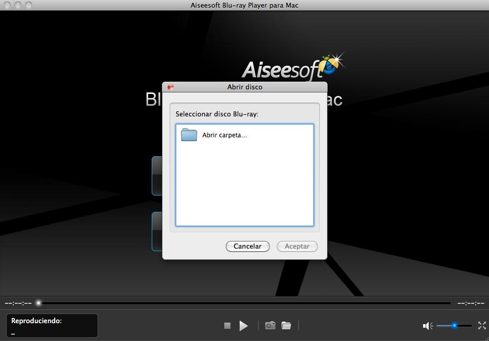 Hacer clic en Abrir disco para reproducir Blu-ray ISO