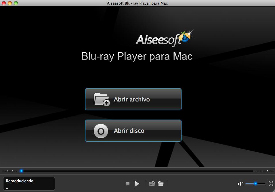 Abrir el reproductor Blu-ray Player