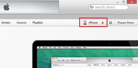Abrir el iTunes y conectar su iPhone