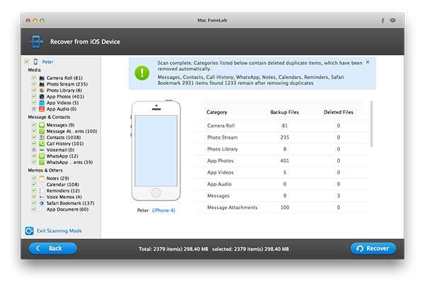 Hacer el análisis de su iPhone