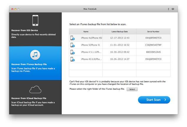 Seleccionar la copia de seguridad para recuperar sus archivos