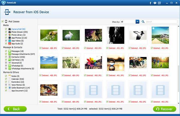 Marcar y recuperar los archivos deseados