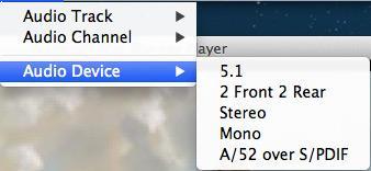 Ajustar las configuraciones de audio para ver bluray en el mac