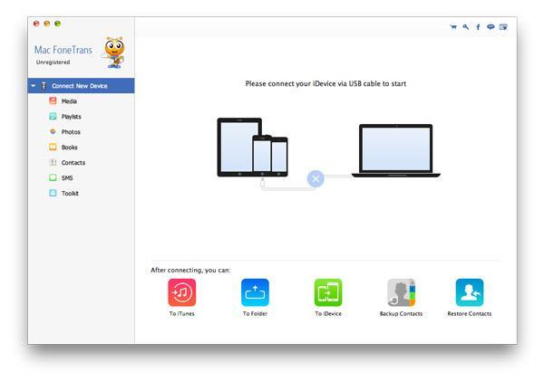 Abrir el FoneTrans en su Mac