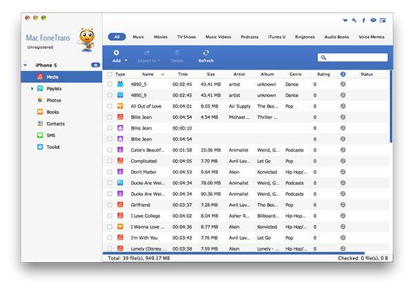 Conectar su iPhone al Mac y abrir el FoneTrans