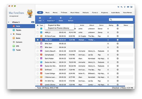 Transferir los archivos del iPhone al Mac