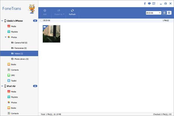 Adicionar los videos que desee transferir para el iPad