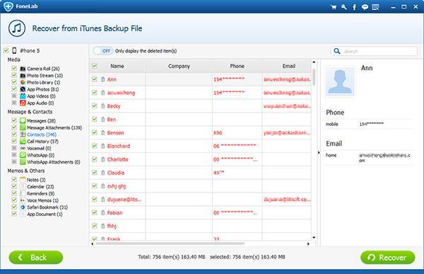 Seleccionar los archivos que desea visualizar y recuperar