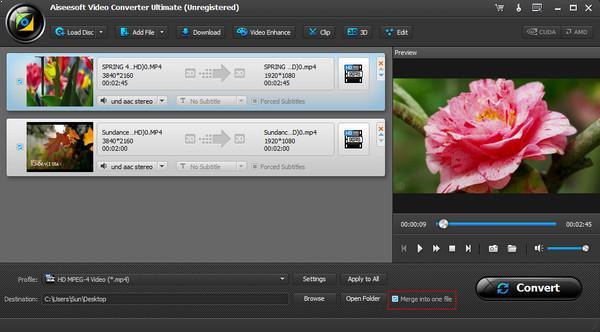 Unir diferentes videos en un solo archivo