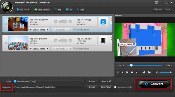 Iniciar la conversión de sus videos