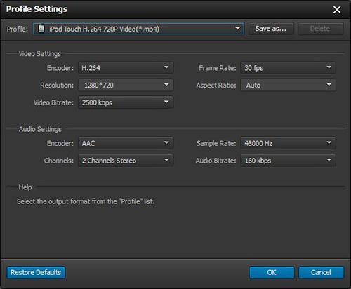 Ajustar las configuraciones de sus videos