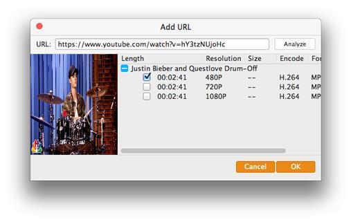 Seleccionar la resolución y descargar su video