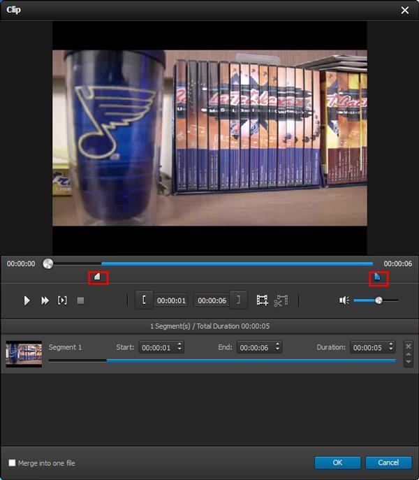 Separar su video en diversos clips