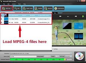 Abrir el programa e importar sus archivos MPEG-4