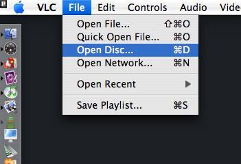 Ver un DVD con el VLC en el Mac