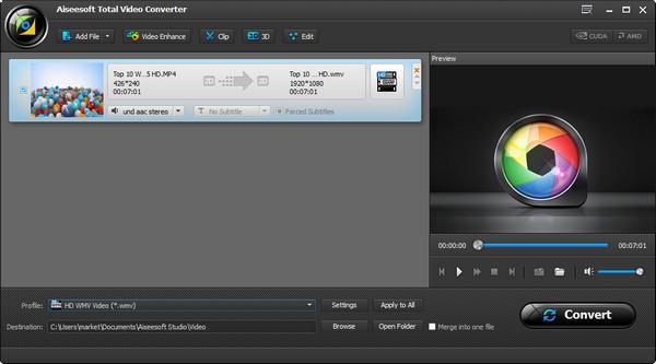 Ajustar los parámetros de su video
