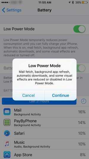 Sugerencias para economizar batería del iPhone