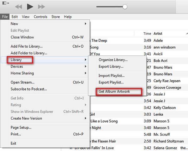 Hacer clic en Obtener Capa del Álbum