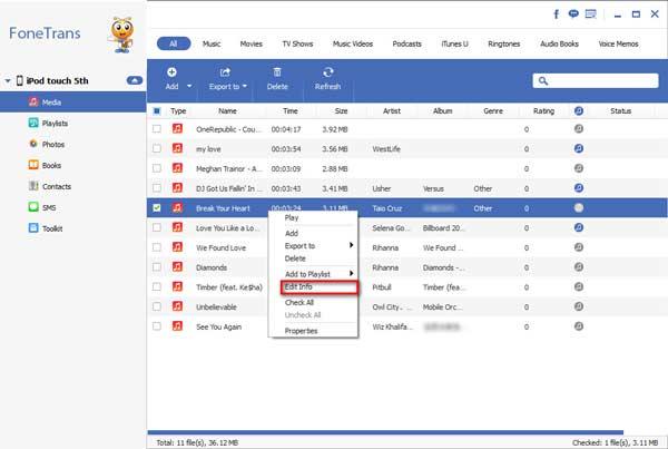 Hacer clic en Editar Informaciones