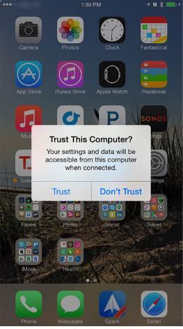Toque en Confiar