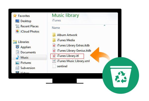 Reconstruir librería de iTunes