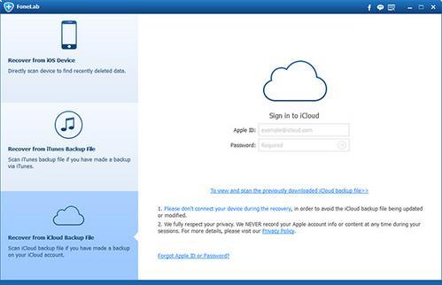 Recupere sus contactos de una copia de seguridad del iCloud