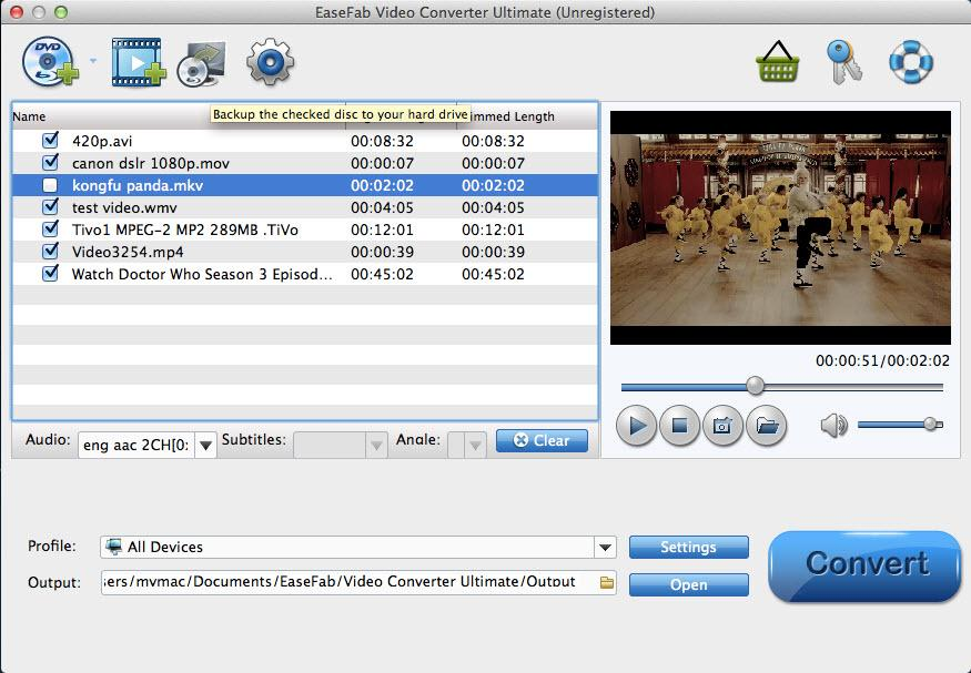 EaseFab Video Converter para Mac
