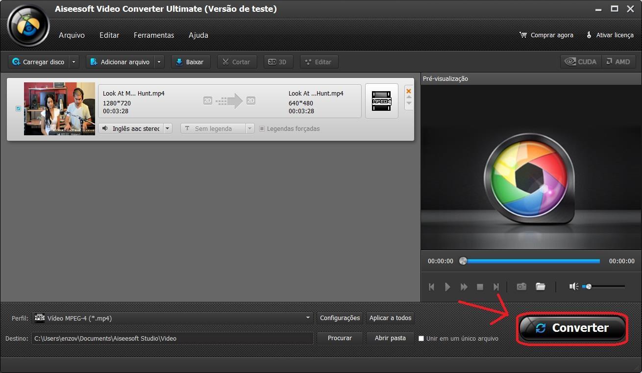 Iniciar la conversión de sus archivos MP4 a AVI
