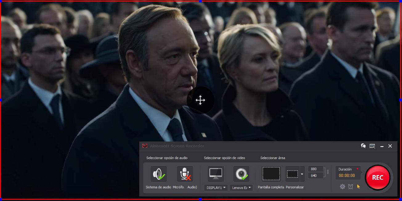 Grabar pantalla del PC para guardar series Netflix
