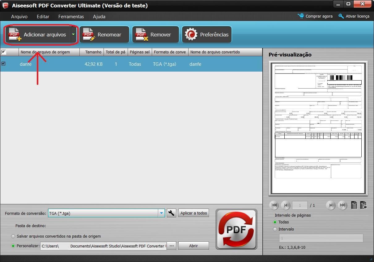 Importar los archivos PDF