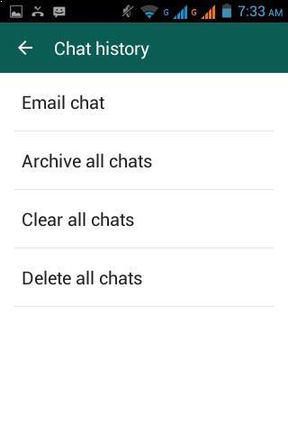Enviar conversación por email