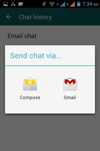 Seleccionar como desea enviar su conversación