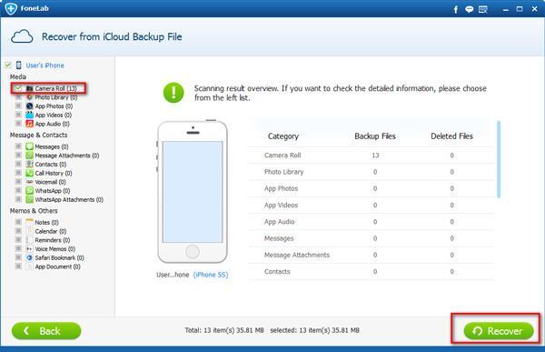 Guardar sus archivos del iCloud en el PC