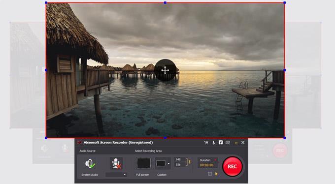 Hacer clic en REC para comenzar a grabar sus videos