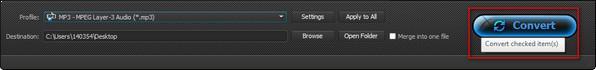 Iniciar la conversión de sus archivos de WAV a MP3