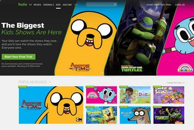 Ver dibujos animados gratis en el Hulu