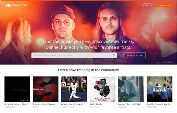 Entrar en su cuenta del SoundCloud