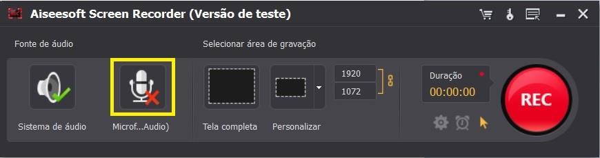 Ajustar las configuraciones del Screen Recorder