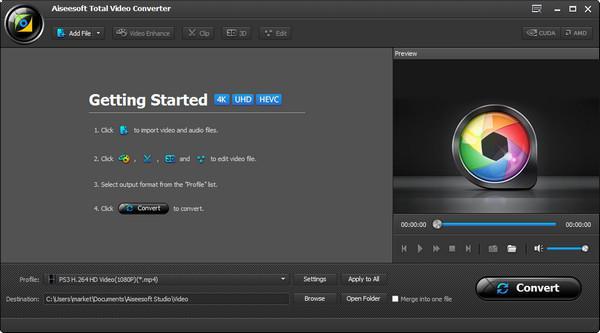 Abrir el Video Converter Ultimate para convertir el archivo formato RM