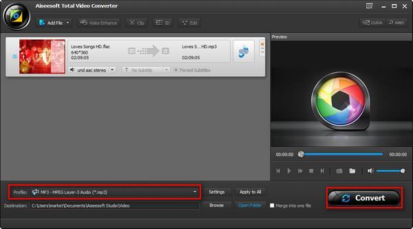 Iniciar la conversión de sus archivos de FLAC a MP3