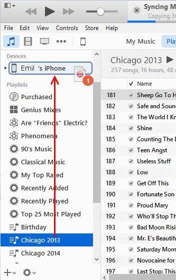 ¿Cómo sincronizar listas de reproducción en el iTunes 12?