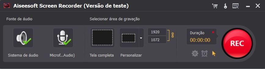 Aiseesoft Screen Recorder gravar videojuego