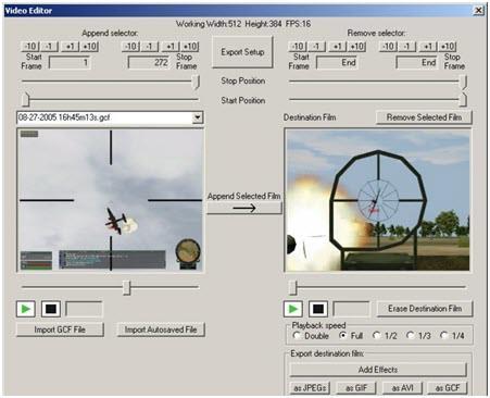 Growler Guncam grabar videojuegos