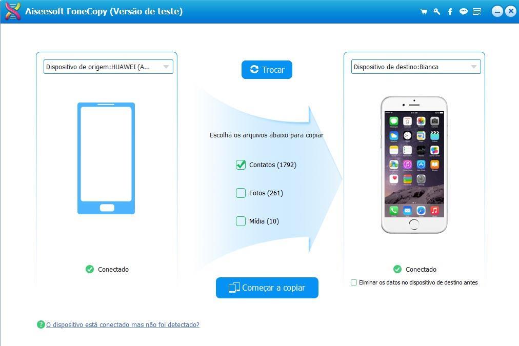 Transferir contactos HTC a iPhone con Aiseesoft FoneCopy